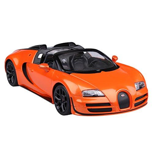 YESURPRISE Auto Modell Modellauto Rastar Spielauto Fernbedienung Auto Car Modell R/C 1:14 Bugatti Grand Sport Vitesse (2.4G) 70420 Orange Car Model