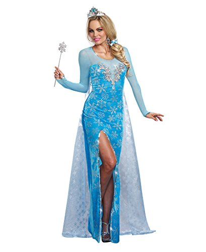 Dreamgirl 9897 Ice Queen Womens Costume - Large - Blue/Silver (Fairy Of Dreams Costume)