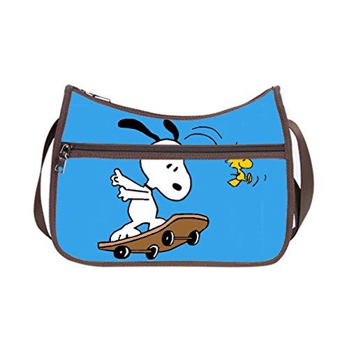 DONGMEN Hallowmas Gifts Fashion Snoopy Design Shoulder Customized Classic Hobo Handbag (Twin Sides) (Hobo Halloween Costume Ideas)