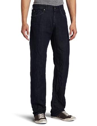 (帅气)7 For All Mankind Men's Austyn Straight Leg Jean男子直筒牛仔裤 $58.58