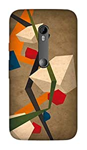 MOTO G TURBO DESIGNER HARD PLASTIC (MATT FINISH) BACK COVER CASE FROM CUSTOMIZE GURU