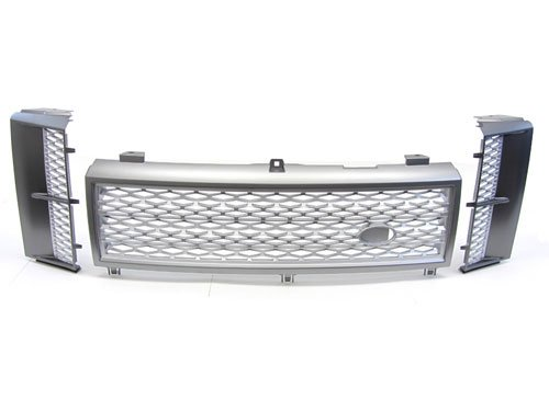 03-05 Land Rover Range Rover Hse Front Mesh + Side Vent Grille Grill Silver front-355909