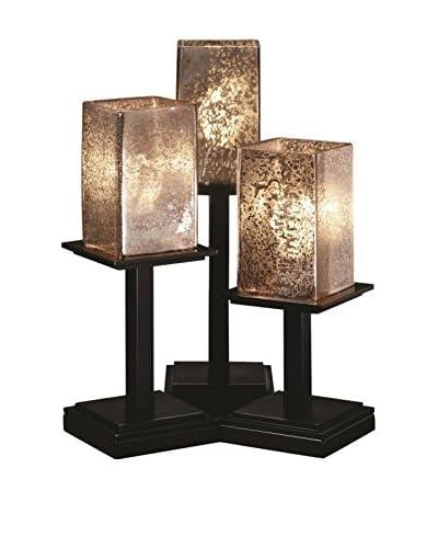 Justice Design Group Fusion 3-Light Montana Table Lamp, Matte Black
