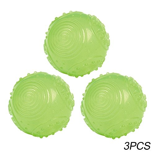 SymbolLife Dog Ball Toys Glow in The Dark Ball Dia 2.2in,3pcs