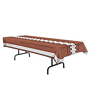 Beistle Football Tablecover 54 x 108 (Brown) at SteelerMania