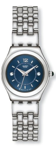 Swatch Ladies Trustfully Mine Blue Dial Silver Tone Bracelet Watch