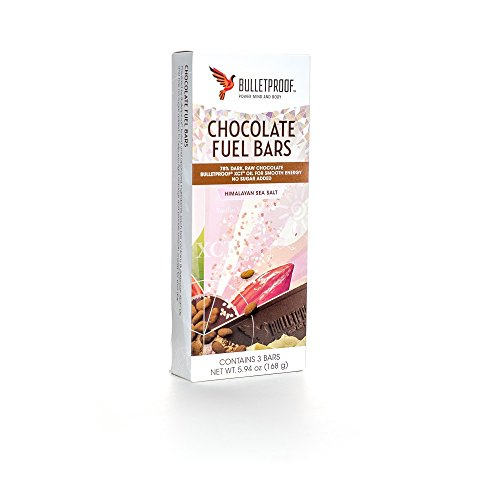Bulletproof Chocolate Fuel Bars - Himalayan Sea Salt (3Pack) NET WT. 5.94 OZ.