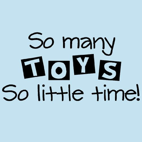 So many TOYS so little time 10x20 vinyl lettering wall decal sticker art home decor