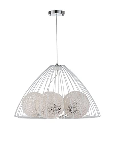 International Designs Armand 5-Light Ceiling Fixture, White