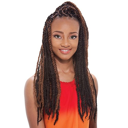 Afro Marley Braid (kanekalon) by Janet Collection-2(dark brown) (Black Long Wig With Two Braids)