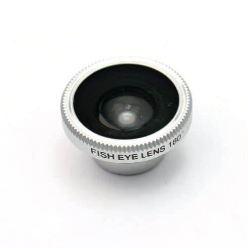 Rhx White Detachable Wide 180¡Ãfish Eye Camera Lens With Back Case Cover For Iphone