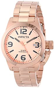 Invicta Men's 14830 Corduba Rose Gold Tone Dial 18k Rose Gold Ion-Plated Stainless Steel Watch