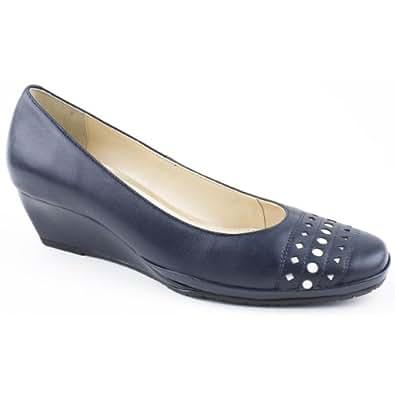 Van Dal Ladies Pacifica Blue Wedge Heeled Shoe Size 6