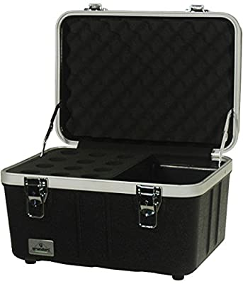 Grundorf Corporation ABS-MC12CB Hard-Shell Mic Case & Cables by Hal Leonard Music Accessories