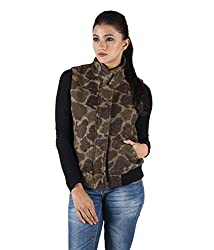 Owncraft Women's Tweed Jacket (Own_106_Khaki_Medium)