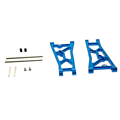 GPM Racing Front Arm Set for 1:10 Associated Prolite 4X4, Blue - 1