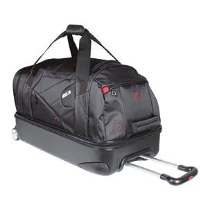 Ful Hybrid Rolling Duffel Bag (Black, Large/28-Inch)
