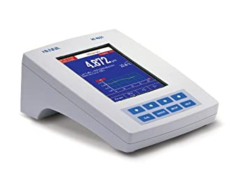 Hanna Instruments HI 4221 Single Channel pH/mV/Temperature Benchtop Meter, with Dot Matrix LCD