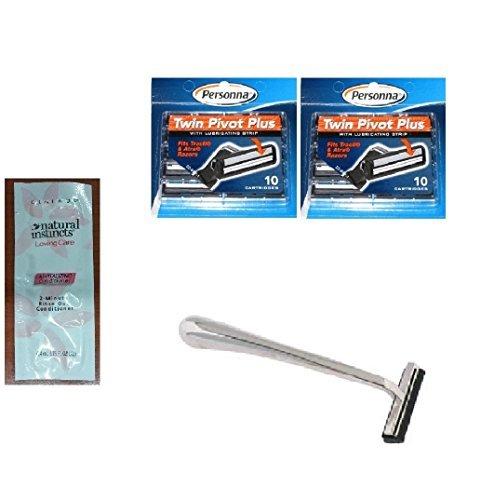 trac-ii-chrome-handle-personna-twin-pivot-plus-razor-cartridges-w-lubricating-strip-for-atra-trac-ii