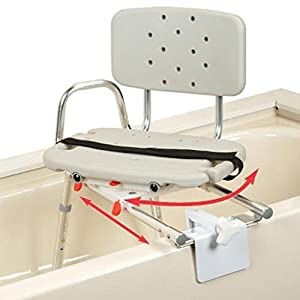 Snap N Save Sliding Transfer Bench Tub Mount With Swivel Seat Pictured Health