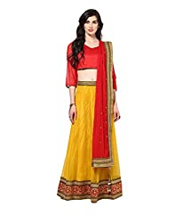 Yepme Deja Lehenga Choli Set - Red & Yellow -- YPMLEHG0035_Free Size