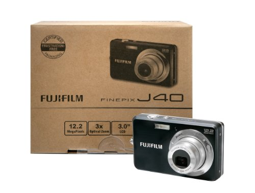 Fujifilm FinePix J40 12.2 MP Digital Camera with 3x Optical Zoom and 3-Inch LCD (Includes 2 GB SD Memory Card)