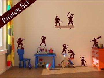 Wandtattoo Piratenset – 8 coole Piraten Wandaufkleber fürs Kinderzimmer, Pirat, auch als Fenstersticker Toll günstig kaufen