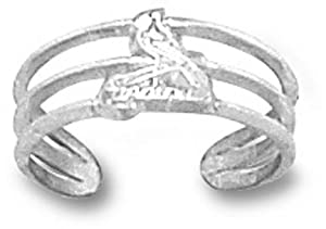 St. Louis Cardinals Logo 3 8 Toe Ring - 14KT Gold Jewelry by Logo Art