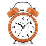 Modern Fashion Lovely Colorful Metal Alarm Clock Orange 888