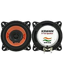 Krown KFR-425 4 inch 2 Way Pair of Car Speakers with inbuilt Tweeter