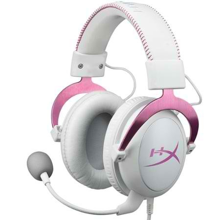 Kingston-HyperX-Cloud-Gaming-Pink-Detachable-Microphone-Headset