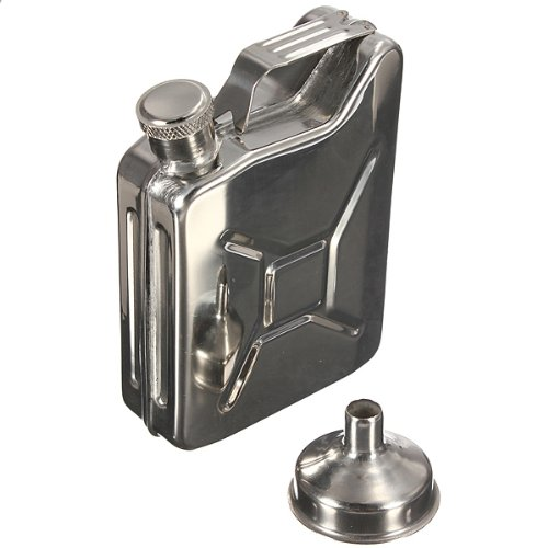 304 Stainless Steel Hip Flask With A Small Funnel