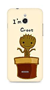 Amez designer printed 3d premium high quality back case cover for Infocus M2 (I Am Groot Baby Flower)