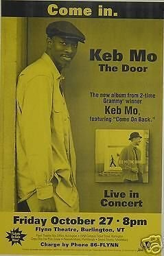 keb-mo-rare-original-flynn-theatre-vermont-blues-concert-flyer-gig-poster