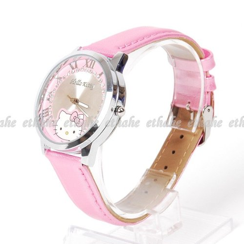 Hello Kitty Rhinestones Wrist Watch Wristwatch