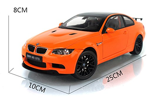 Tourwin Toy car 1:18 BMW M3 GTS simulation Orange Glider Car Model Collection Decoration Alloy children's toys 4 doors can open
