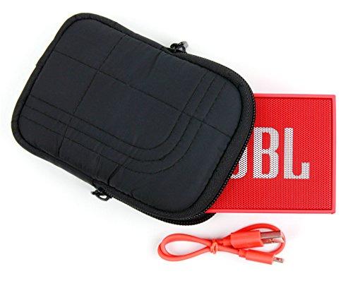 Housse noire antichoc pour JBL GO tous modèles (Blue, Black, Orange) mini enceintes portables Bluetooth - mousse à mémoire de forme, par DURAGADGET