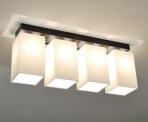 designer decken leuchte lampe retro deckenleuchte hotel b ro e27 power led bern 4 holzfarbe. Black Bedroom Furniture Sets. Home Design Ideas