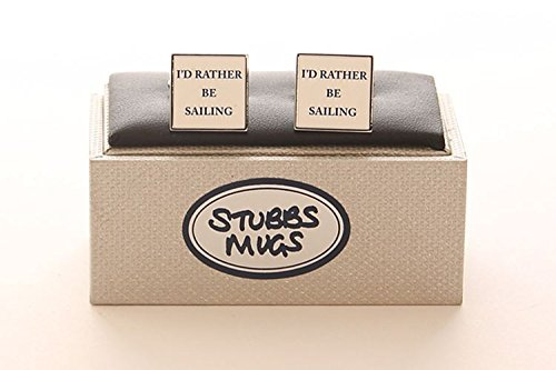 Stubbs Mugs I'D Rather Be Sailing Cufflinks Boxed Set