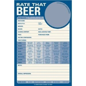 Rate That Beer Note Pad Paper Sheets By Knock Knock