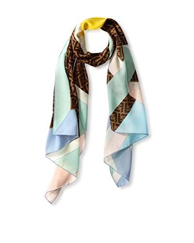 Fendi Women's Silk Scarf, Brown
