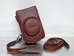 Leather Case for Panasonic Lumix LX5 Camera Brown