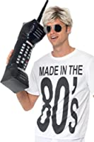 Smiffy's 30-inch Inflatable Retro Mobile Phone (Black)