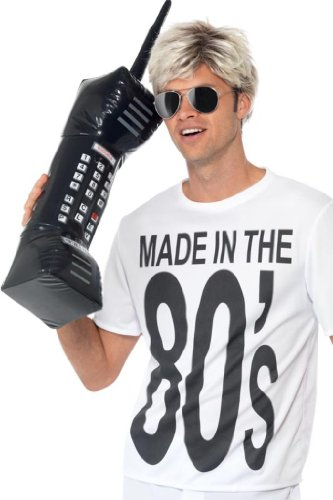 Smiffy's 30-inch Inflatable Retro Mobile Phone - Black