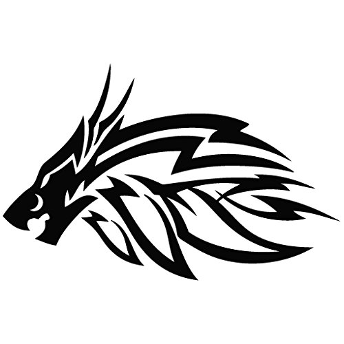 Werewolf Moon Head - Tribal Decal Vinyl Removable Decorative Sticker for Wall, Car, Ipad, Macbook, Laptop, Bike, Helmet, Small Appliances, Music Instruments, Motorcycle, Suitcase