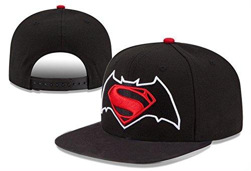Superman-Cappuccio Cappello cappelli cappellino da Baseball calcio Sport regolabile per uomini e donne (Nero)