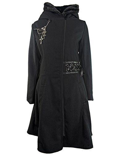 Alchemy Black -  Cappotto  - Basic - Maniche lunghe - Donna nero X-Large