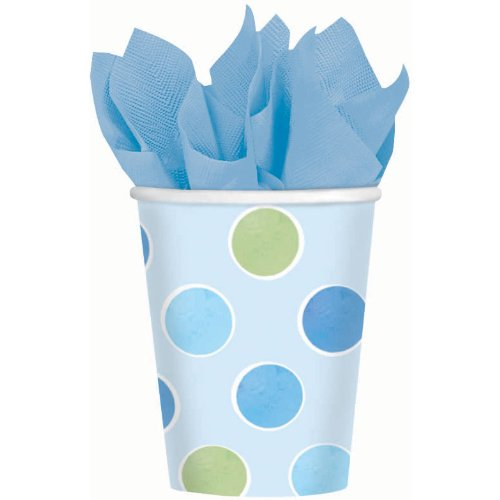 Blue with Dots 9 oz. Paper Cups