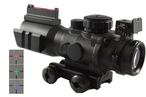 4X32 Fixed Power Scope With Fiber Optic Tactical Sight And Weaver Slots