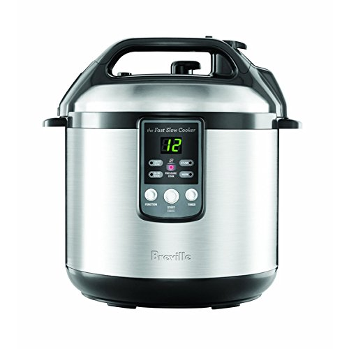 Breville BPR600XL 6-Quart Fast-Slow Cooker, Safety locking lid, safety valve and pressure release button (The Fast Slow Cooker compare prices)